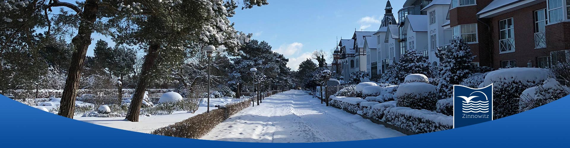 Promenade Ostseebad Zinnowitz Winter